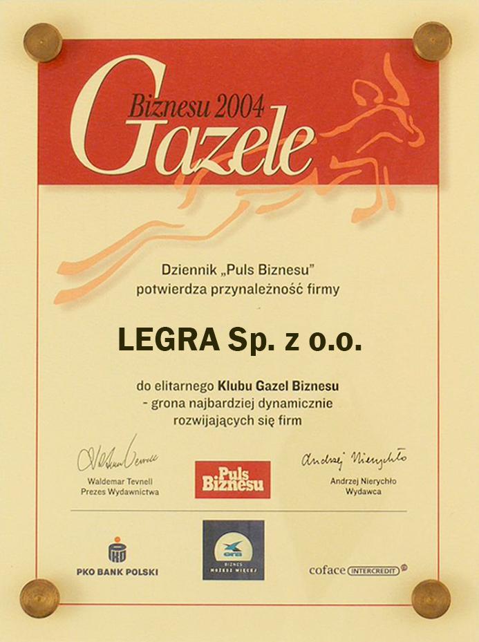 Legra Gazela Biznesu 2004