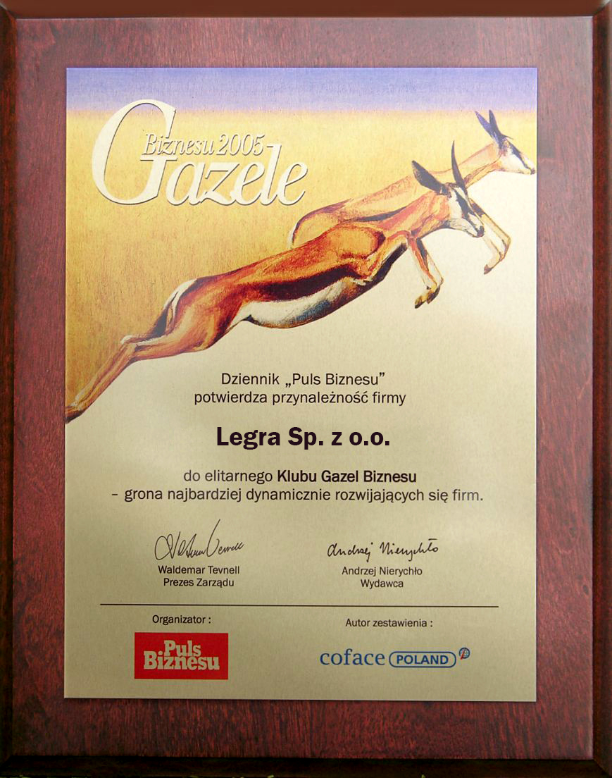 Legra Gazela Biznesu 2005